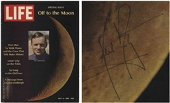Neil Armstrong Signed Life Magazine From 1969 -- Uninscribed -- With Steve Zarelli COA