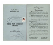 Neil Armstrong Signed Program Commemorating the 10th Anniversary of Apollo 11
