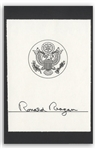 Ronald Reagan Signed Presidential Bookplate -- With JSA COA