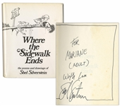 Shel Silverstein Signed Copy of Where the Sidewalk Ends -- A Very Rare Title Signed by Silverstein