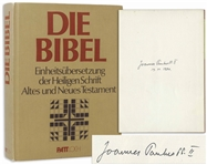 Pope John Paul II Signed German Bible -- Signed During His Historic Trip to Germany in 1980