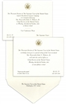 Invitations to the Investiture Ceremony and Reception of Supreme Court Chief Justice John Roberts