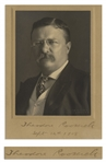 Theodore Roosevelt Photo Mat Signed as President
