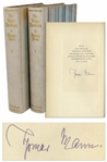 Thomas Mann Signed Limited First U.S. Edition of The Magic Mountain -- The Novel That Helped Earn Mann His Nobel Prize in Literature
