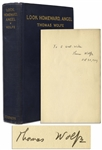 Thomas Wolfe Signed First Printing, First Edition of Look Homeward, Angel -- Signed in 1929, the Year of Publication
