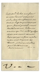 Voltaire Autograph Letter Signed Regarding Excessive Taxation by a Local Priest -- ...Making our Masters of Taxes listen to reason... -- With University Archives COA