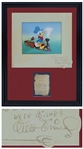 Walt Disney Signed Dye Transfer Print of Donald Duck From Out of Scale