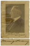 Warren Harding Large Signed Photo Measuring 9 x 11.75