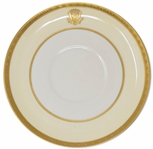 Woodrow Wilson White House China Saucer -- From 1918, in Fine Condition