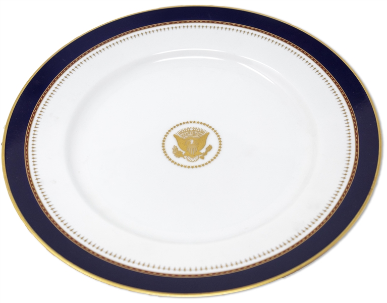 Ronald Reagan White House China Service Plate -- Measures 12.125'', Ideal for Display