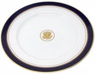 Ronald Reagan White House China Service Plate -- Measures 12.125, Ideal for Display
