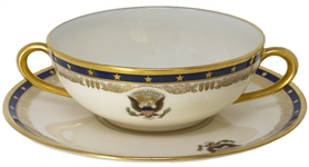 Franklin D. Roosevelt White House Bouillon Cup & Saucer, in Fine Condition