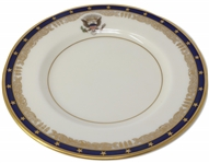 Franklin D. Roosevelt White House Bread Plate, Likely Ordered for Use on the Presidential Yacht