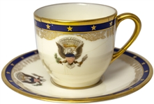 Franklin D. Roosevelt White House Cup and Saucer, Likely Ordered for Use on the Presidential Yacht