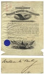 William McKinley Military Appointment Signed as President During the Spanish-American War