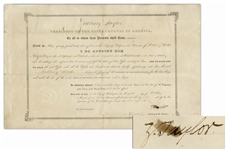 Zachary Taylor Document Signed as President -- The Third Rarest Autograph as President