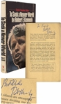 Robert F. Kennedy Signed Copy of His Book To Seek a Newer World