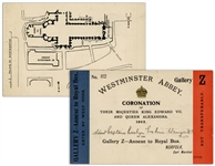 Admission Card to the Coronation of King Edward VII and Queen Alexandra in 1902