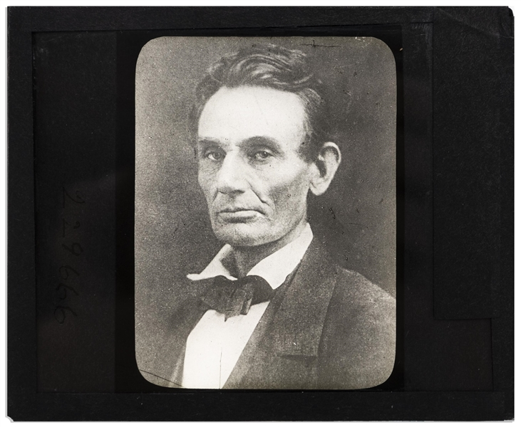 Abraham Lincoln Magic Lantern Slide -- Taken 4 October 1859