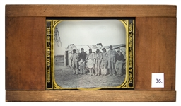 Civil War Magic Lantern Slide -- African American Teamsters at Bermuda Hundred