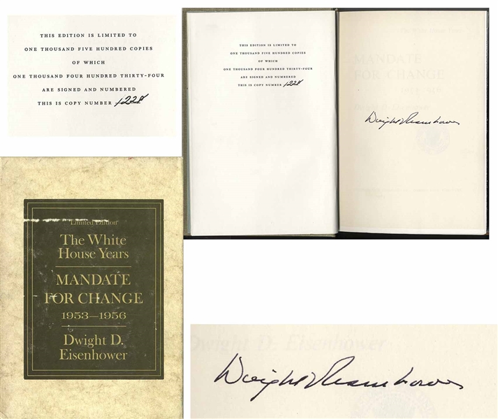 Dwight D. Eisenhower Signed Limited Edition of His Memoir, ''The White House Years'' -- Uninscribed, #1228 of the Limited Edition