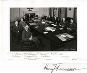 Gorgeous 16.5 x 12 Photo Signed by Harry Truman & His Cabinet -- From the Estate of Agriculture Secretary Charles Brannon