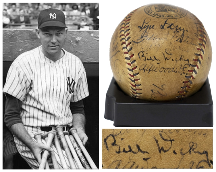 Yankees Team-Signed Ball From 1929, Featuring Babe Ruth's Signature on the Sweet Spot -- With PSA/DNA COA