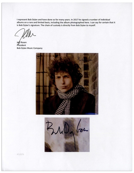 Bob Dylan Signed Double Album Blonde on Blonde -- With Roger Epperson & Jeff Rosen COAs
