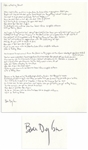 "Bob Dylan Signed, Handwritten Lyrics to ""Like a Rolling Stone"" -- The Quintessential Rock Song -- With COA From Dylans Manager"