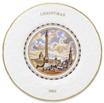 Margaret Thatcher Personally Owned Christmas Plate, Made of Porcelain China, Dated 1983