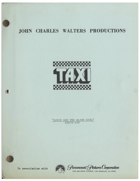 Taxi Script -- From the Estate of Sam Simon, Co-Creator of The Simpsons & Writer on Taxi