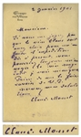 "Claude Monet Autograph Letter Signed -- Monet Writes to His Wine Merchant: ""…you could always send me the red wine…"""