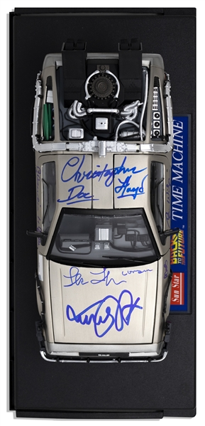 Back to the Future Cast Signed DeLorean