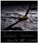 "Michael Collins Signed 20"" x 16"" Photo -- ""The Eagle has landed"""