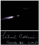 "Michael Collins Signed 20"" x 16"" Photo of the Apollo 11 Saturn Rocket in Space"