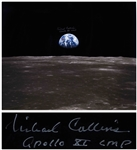 "Michael Collins Signed 20"" x 16"" Photo of the Earth From Space"