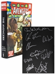 "Stan Lee Signed ""The Avengers Omnibus"" Coffee Table Book -- Also Signed by 8 Members of Superhero Squad Including Chris Hemsworth & Chris Evans"