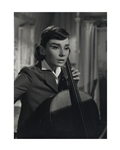 "Audrey Hepburns Personally Owned Photo From ""Love in the Afternoon"" -- Measures 11.5"" x 15.5"""