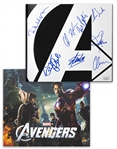"Stan Lee Signed ""The Art of the Avengers"" Coffee Table Book -- Also Signed by 7 Members of Superhero Squad Including Chris Hemsworth & Chris Evans"
