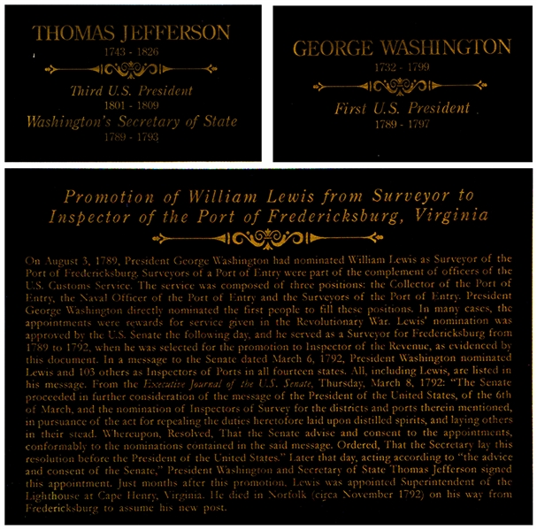 George Washington Appointment Signed as President -- Countersigned by Thomas Jefferson as Secretary of State