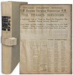 Titanic Newspaper Coverage in 2 Months of The Boston Evening Transcript From 1 March-30 April 1912 -- Includes Over 3 Dozen Titanic Ads Before the Sinking & a Titanic Disaster Special Issue