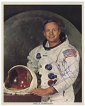"Neil Armstrong Boldly Signed 8"" x 10"" Photo, Uninscribed -- With Steve Zarelli COA"