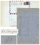 "Hunter S. Thompson Autograph Letter Twice-Signed -- ""…The People are a myth. They are their own enemies - life is a bread riot…"""
