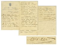 "Scarce Mata Hari Autograph Letter Signed ""Mata Hari"" to Her Lover -- ""…I have to dance on 14 Dec in The Hague…"""