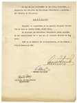 Fidel Castro Document Signed as Prime Minister From 1960 -- Cuba Opens Its Consulate in Costa Rica