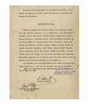 Fidel Castro Document Signed as Prime Minister From 1960