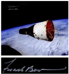"Frank Borman Signed 20"" x 16"" Photo of the ""Golden Ribbons"" Gemini VII Spacecraft"