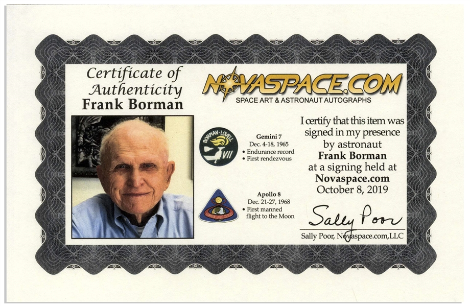 Frank Borman Signed 16 x 20 Photo
