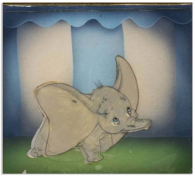 Original ''Dumbo'' Disney Cel -- Featuring Dumbo With His Large Ears on Full Display