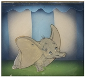 Original Dumbo Disney Cel -- Featuring Dumbo With His Large Ears on Full Display